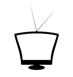 retro television vector image