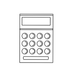 school calculator math number accounts vector image