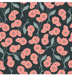 Seamless pattern with flowers and floral elements vector
