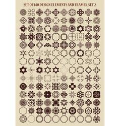 Set of 140 design elements and frames vector image