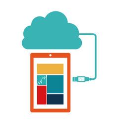 smartphone database server icon stock vector image vector image