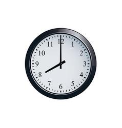 wall clock set at 8 o clock vector image vector image