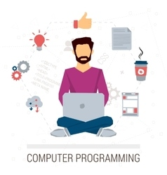 working programmer vector image