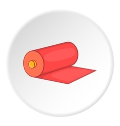 Roll of material icon flat style vector