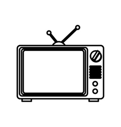 old television isolated icon vector image