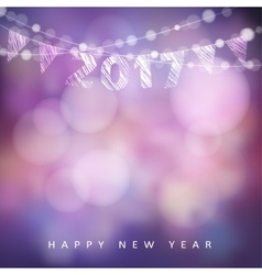 Happy new year greeting card with 2017 glittering vector