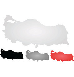 Turkey maps vector