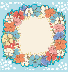 Floral frame cute background vector