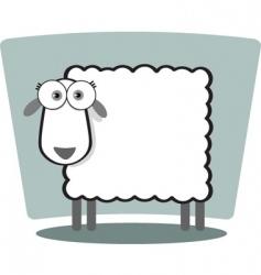 square animal  sheep vector image