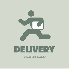 Delivery man - logo concept vector