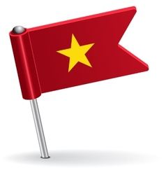 Vietnamese pin icon flag vector
