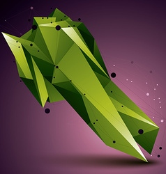 3d abstract design object green polygonal vector