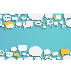 Speech bubbles and dialog balloons vector