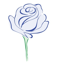 Rose blue vector