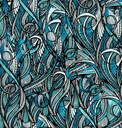 Abstract hand-drawn pattern waves background vector