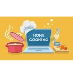 Home food cooking online vector