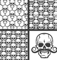 Pattern of skulls vector