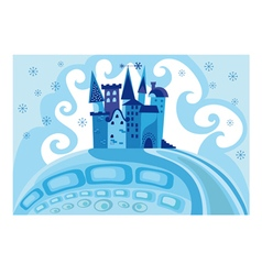 Snow princess castle vector