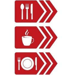 arrow with food sign vector image
