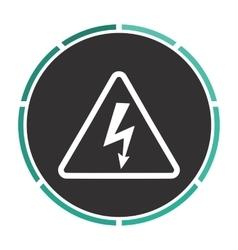 High voltage computer symbol vector