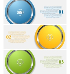 Abstract infographic tech banners vector