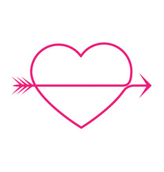 arrow heart vector image vector image