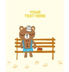 Bear waiting love vector