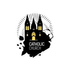 Catholic Cathedral Church silhouette vector image vector image