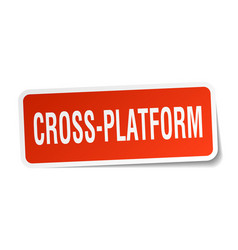 Cross-platform square sticker on white vector