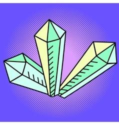 Crystal pop art vector