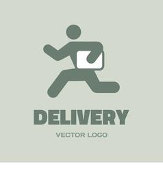 Delivery man - logo concept vector image