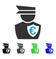 Euro commissioner flat icon vector
