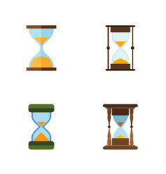Flat icon hourglass set of hourglass clock vector