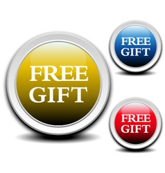 Free gift labels vector image