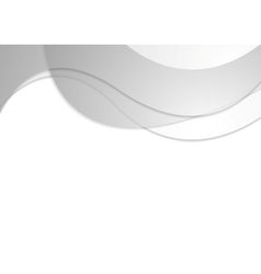 Grey corporate wavy abstract background vector
