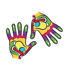 Hands sketch for your design massage reflexology vector image vector image