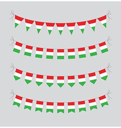 hungary bunting vector image vector image