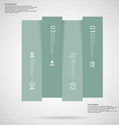 Light square template infographic vertically vector