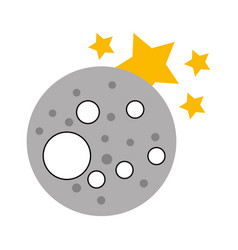 natural satellite moon icon vector image vector image