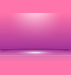 pink and purple studio background with spotlight vector image vector image