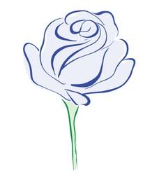 Rose blue vector