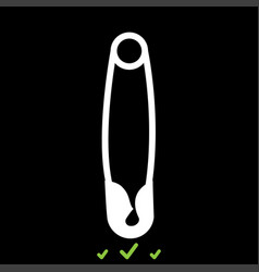 safety pin it is white icon vector image