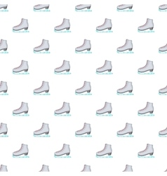 Skates pattern cartoon style vector image vector image