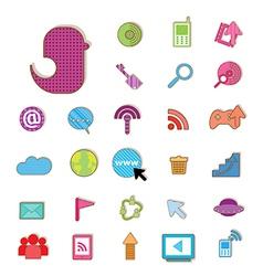 Social color Media color Icon Network vector image vector image