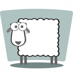 square animal sheep vector image vector image