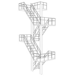 stair on white background vector image vector image