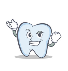 Successful tooth character cartoon style vector