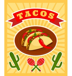 taco poster vector image vector image