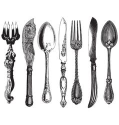 Vintage utensils vector