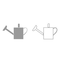 watering can it is black icon vector image vector image